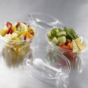 Oval Containers with Hinged Lids